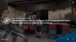 FRANCE BLEUE : Briefing de Vendange en direct