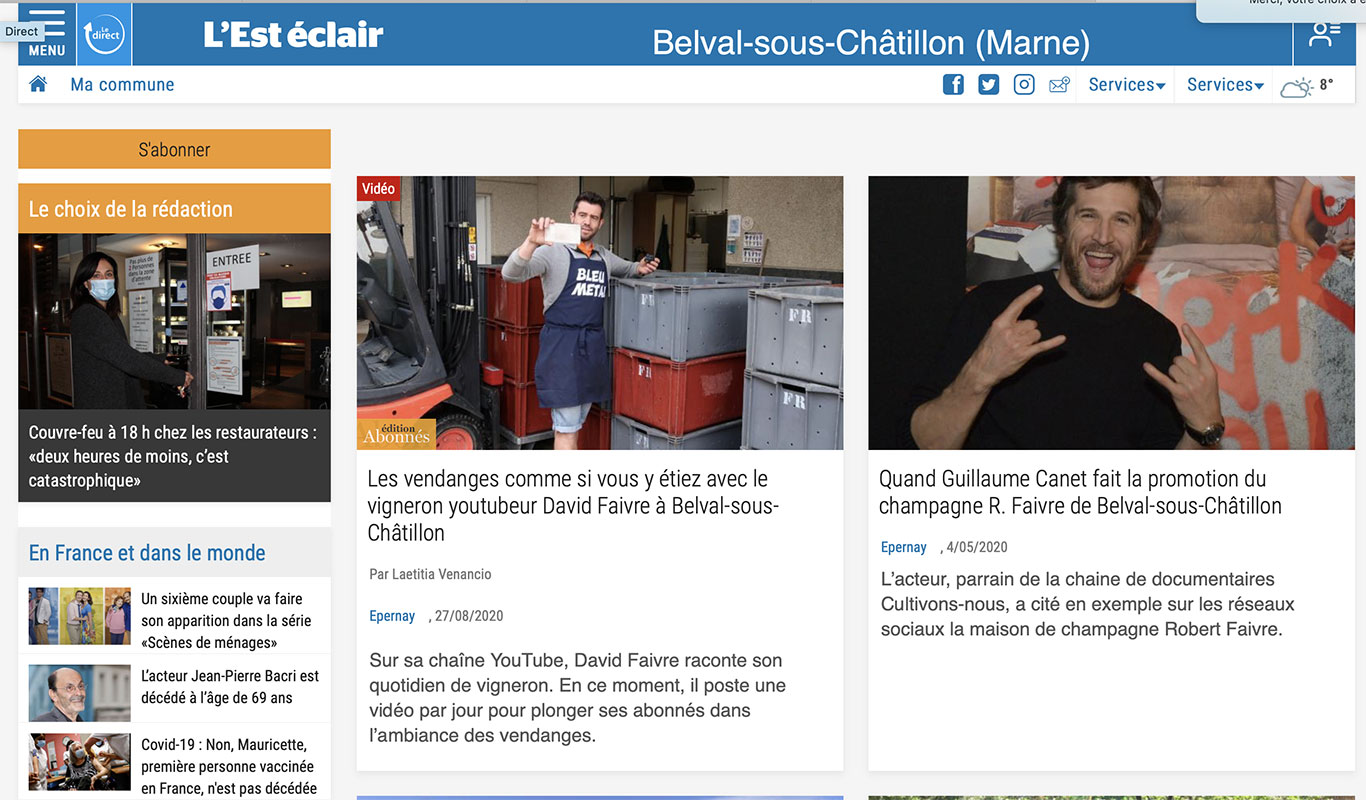 EST ECLAIR : Youtube / Guillaume CANET